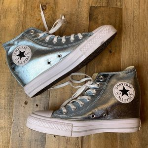 340875ab926630 Converse Shoes - Women s Chuck Taylor Lux Wedge Sneaker Metallic